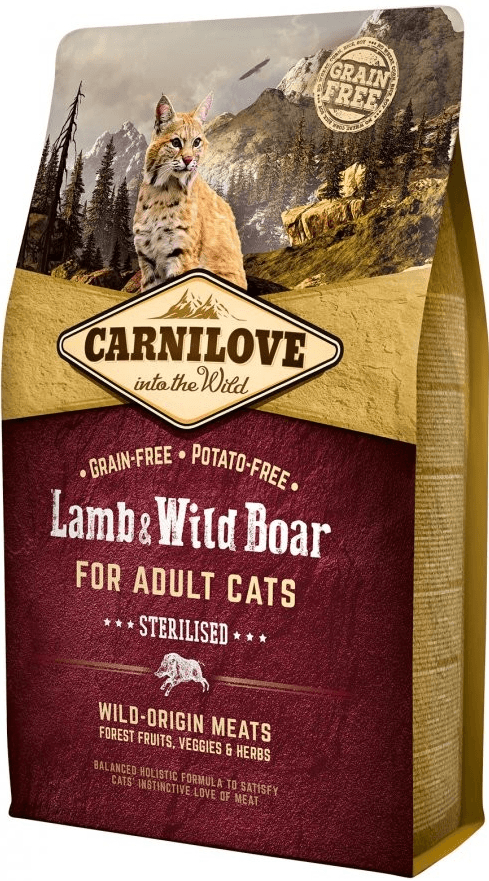 Carnilove Cat Lamb & Wild Boar Adult Sterilised 6 kg